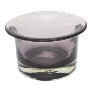 1960s Blenko Purple Glass Bowl For Sale