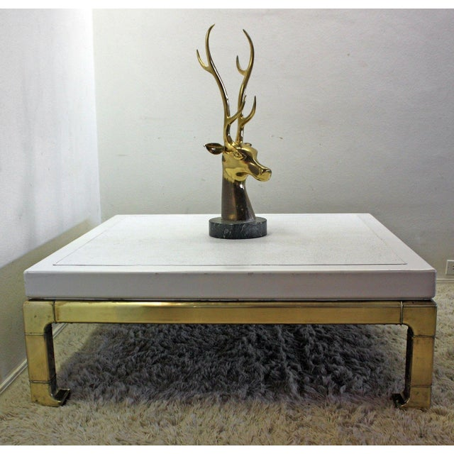 Mastercraft Brass and Lacquered Coffee Table - Image 3 of 8
