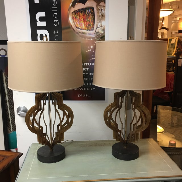Regina Andrew Patter Maker Gold Table Lamps - A Pair - Image 7 of 9