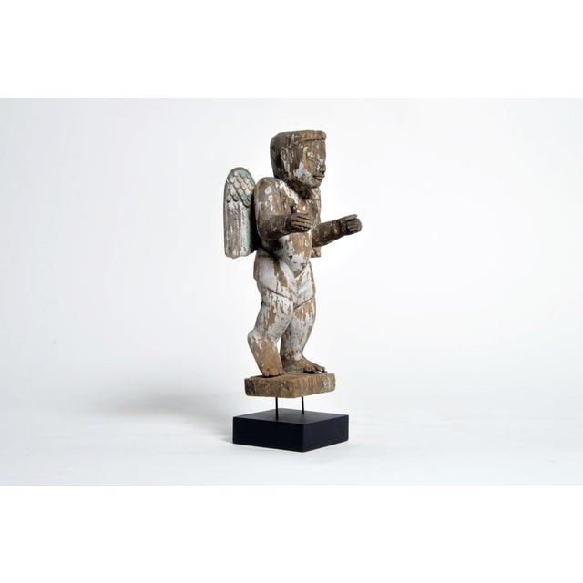 Carved Teak Wood Cupids For Sale - Image 4 of 13
