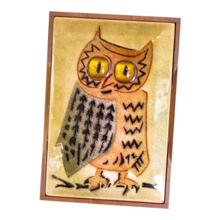 Annemarie Davidson Copper Enamel Owl Box For Sale