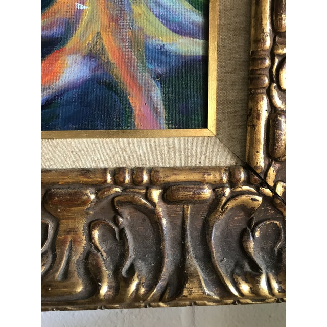 Mid 20th Century Modern Impressionist Style Landscape Oil Painting, Framed For Sale - Image 4 of 6
