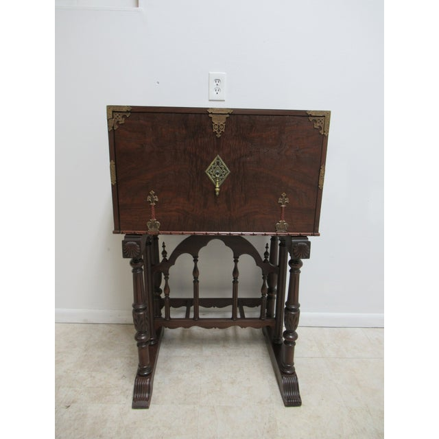 Antique Spanish Renaissance Drop Front Gothic Writing Desk Great shape. Minor age related wear. Few old repairs. Please...