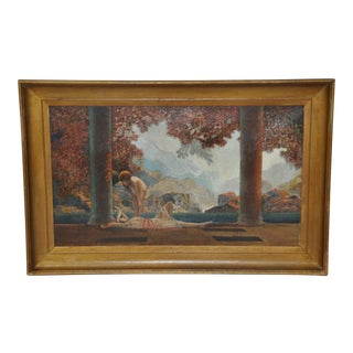 """Daybreak"" Original 20th Century Oil Painting After Parrish For Sale"