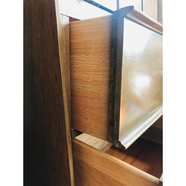 Pair of Mid Century Walnut Nightstands For Sale - Image 10 of 12
