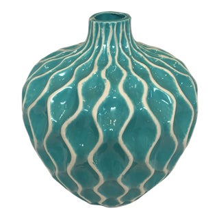 Modern Art Deco Dimpled Vase For Sale