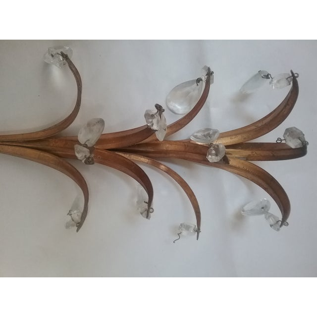 1960s French Gilt Glass Prism Sconce For Sale - Image 5 of 7