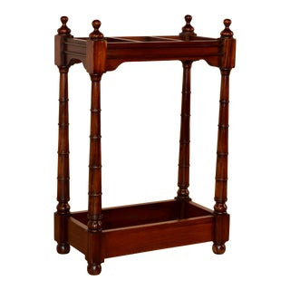 19th C Mahogany Cane Stand For Sale