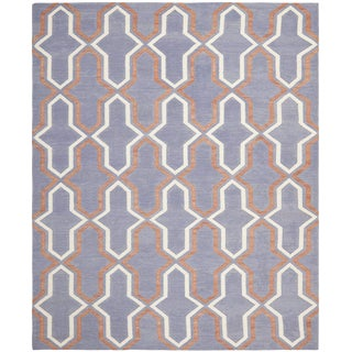 Contemporary Safavieh Dhurrie Wool Flatweave Rug - 10x14' For Sale