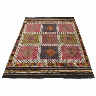 Colorful Kilim Mut Flatweave - 5'2'' x 6'6""