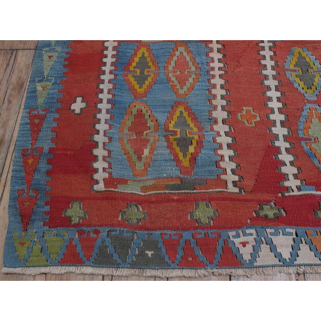 Very Large and Exceptional Antique Sivas Kilim For Sale - Image 10 of 10