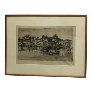 Signed Joseph Pennell Etching A For Sale