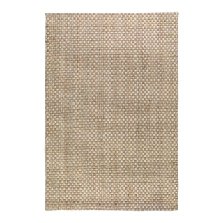 Basket Weave Natural/Bleach Jute Rug - 8 X 10 For Sale