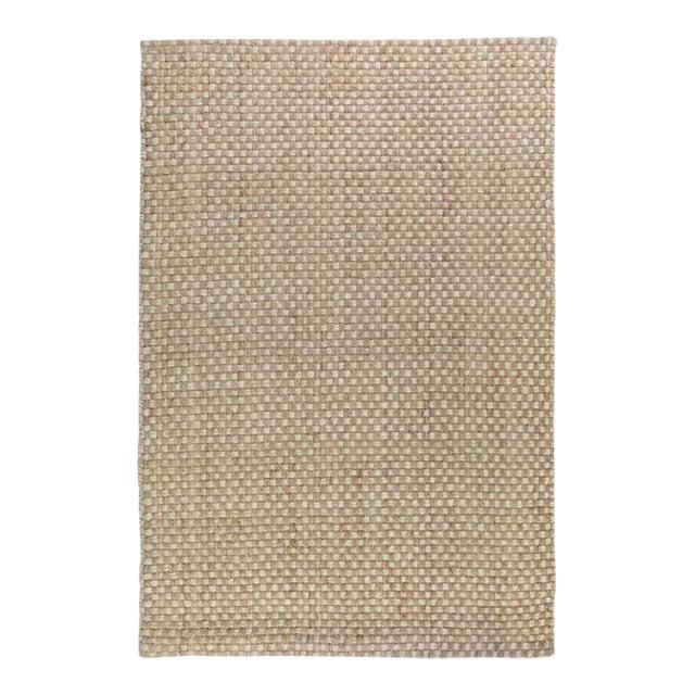 Basket Weave Natural/Bleach Jute Rug - 8 X 10 For Sale