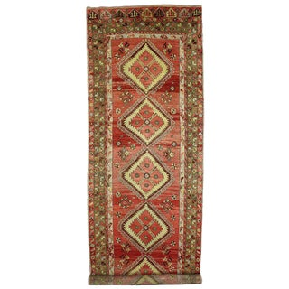Vintage Turkish Oushak 20 Foot Long Runner with Modern Style For Sale