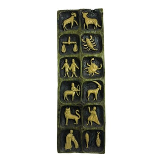 Mid-Century Zodiac Ceramic Wall Art For Sale