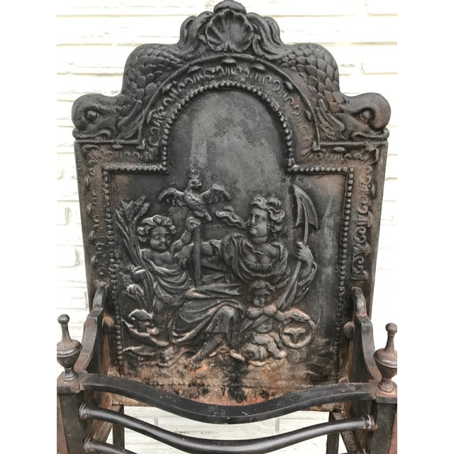 Cast Iron Coal Fireback For Sale In Dallas - Image 6 of 7