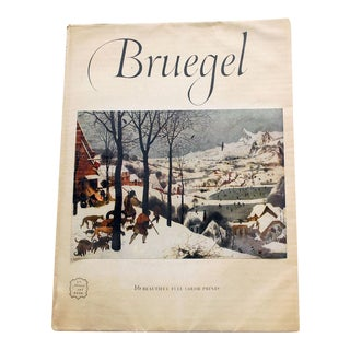 1950s Vintage Bruegel Art Book Including 16 Prints For Sale
