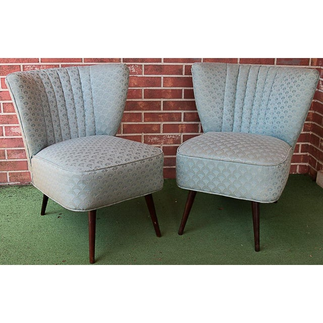 50's Era Slipper Chairs With Tapered Legs - A Pair - Image 2 of 10