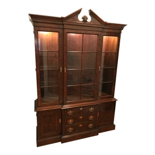 20th Century Chippendale Drexel Mahogany China Cabinet For Sale