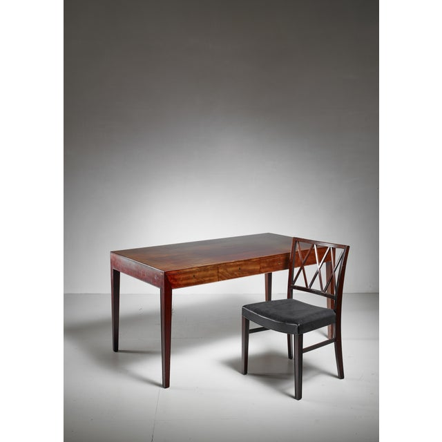Severin Hansen Severin Hansen Desk with Matching Chair for Haslev, Denmark, 1960s For Sale - Image 4 of 6