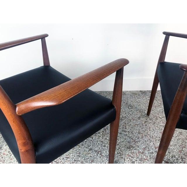 1960s Vintage Arne Hovmand Olsen Danish Teak Dining Chairs - Set of 6 For Sale In Miami - Image 6 of 12