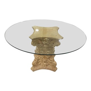 Terra Cotta Glass Top Center Table
