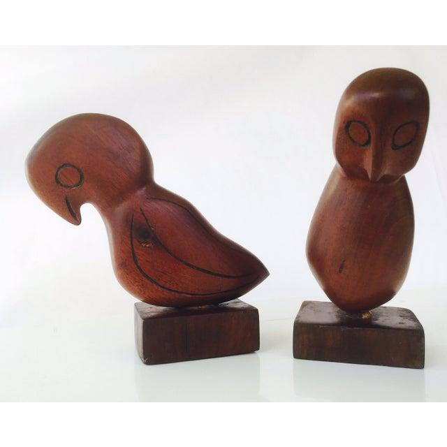 Mid-Century Teak Love Birds - A Pair - Image 4 of 7