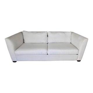 Contemporary Striped White Sofa