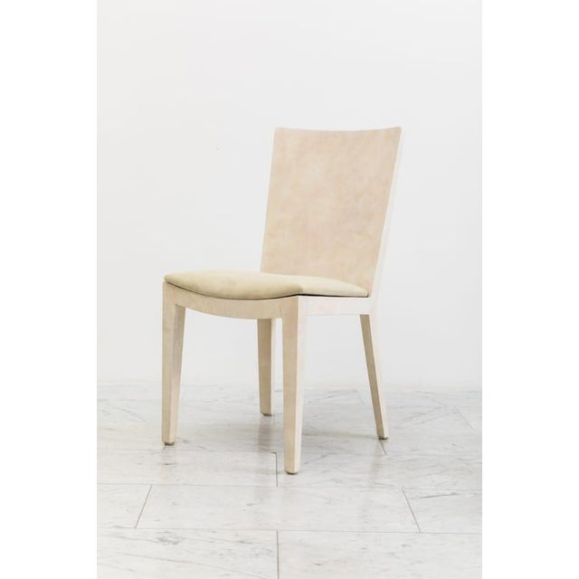 1970s Karl Springer, Matte Parchment Jmf Chairs, Usa, C.1975 For Sale - Image 5 of 7