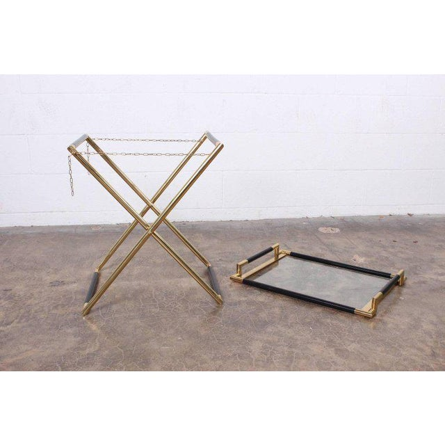 Brass Italian Folding Tray Table in Brass For Sale - Image 7 of 9