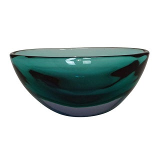 Flavio Poli For Seguso Vetri D'arte Sommerso Bowl Ca. 1960 For Sale