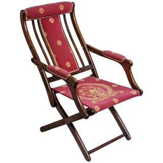 Napoleonic Campaign Style Folding Chair For Sale