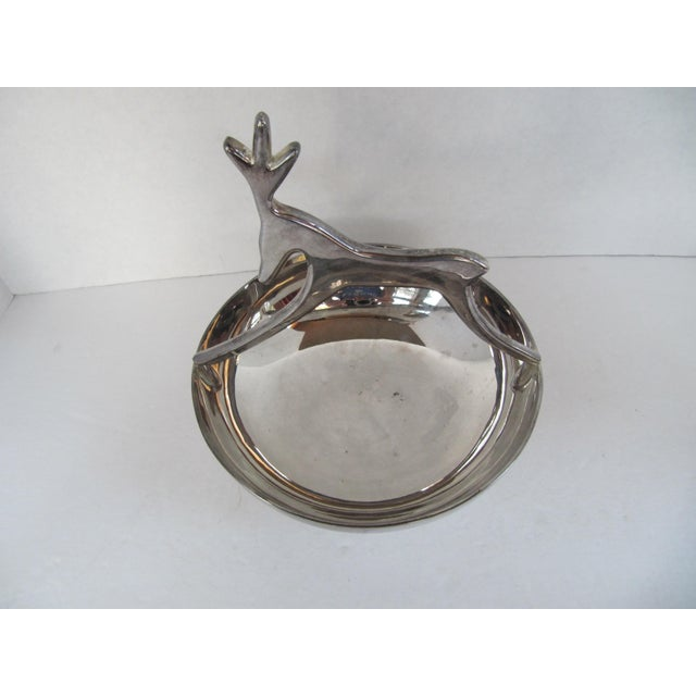 Contemporary Silver-Plate Reindeer Bowl For Sale - Image 3 of 6