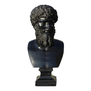 Vintage Bust of Lucius Verus Greek Emperor Statue For Sale
