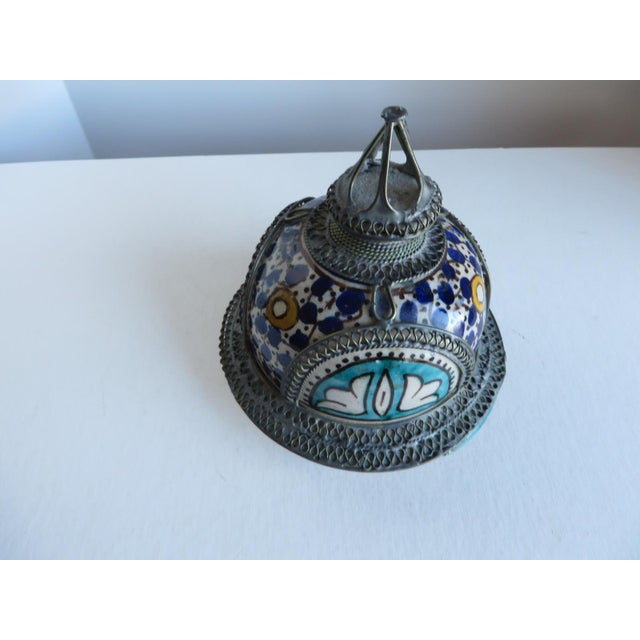 Antique Moroccan Jar with Filigree For Sale - Image 10 of 11