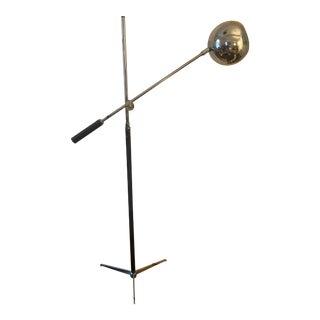 1970s Robert Sonneman Chrome Eyeball Extension Arm Floor Lamp For Sale