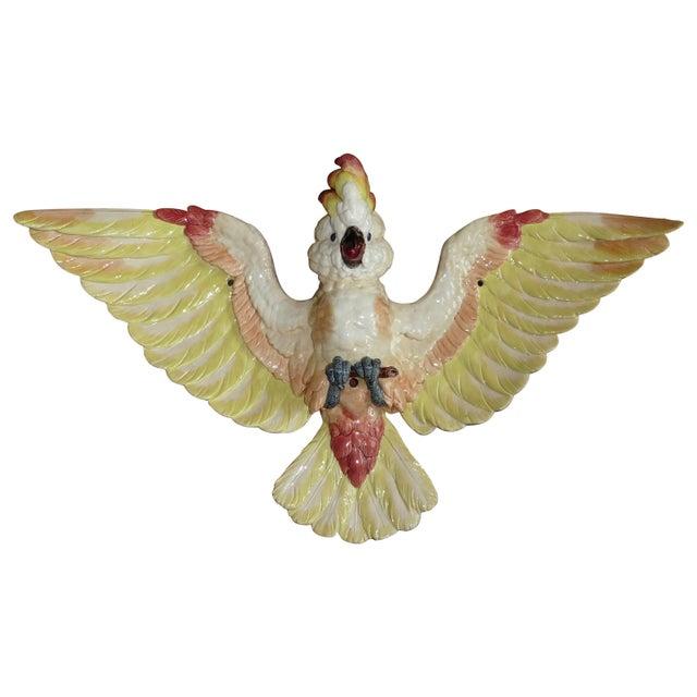 Oversize Majolica Parrot Applique Sarreguemines, circa 1870 For Sale In Austin - Image 6 of 6