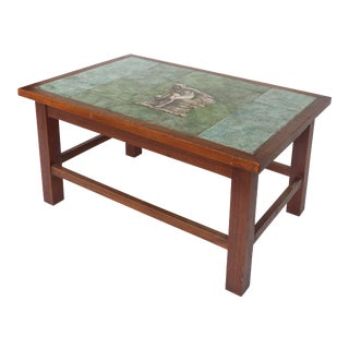 1940 Vintage Johannes Meyer Tile Top Table For Sale