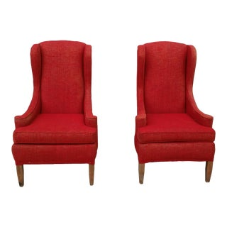 Mid-Century Wingback Chairs - Pair For Sale