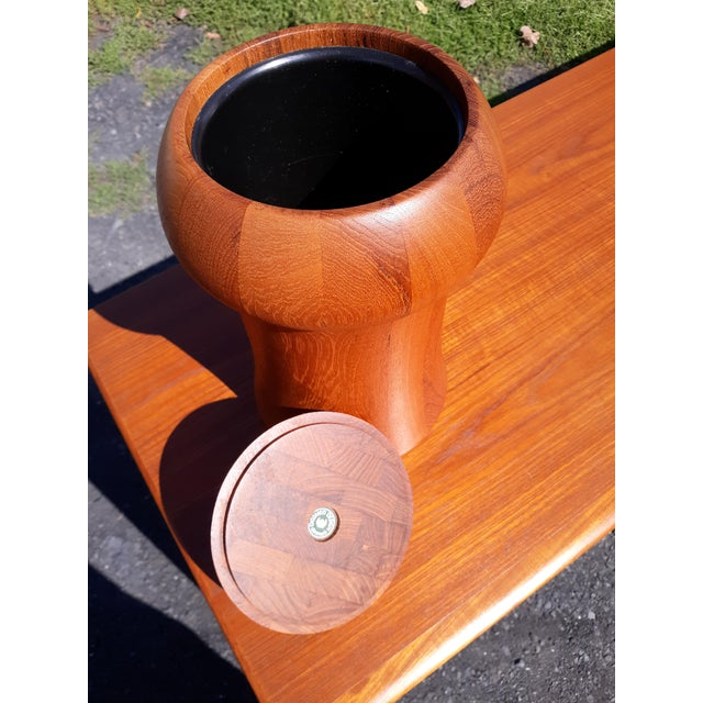 Mid-Century Modern 1960s Digsmed Danish Teak Ice Bucket For Sale - Image 3 of 8