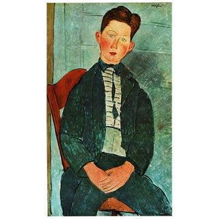"1940s Amedeo Modigliani ""Boy With a Pink Shirt"" Plate From Geneva For Sale"