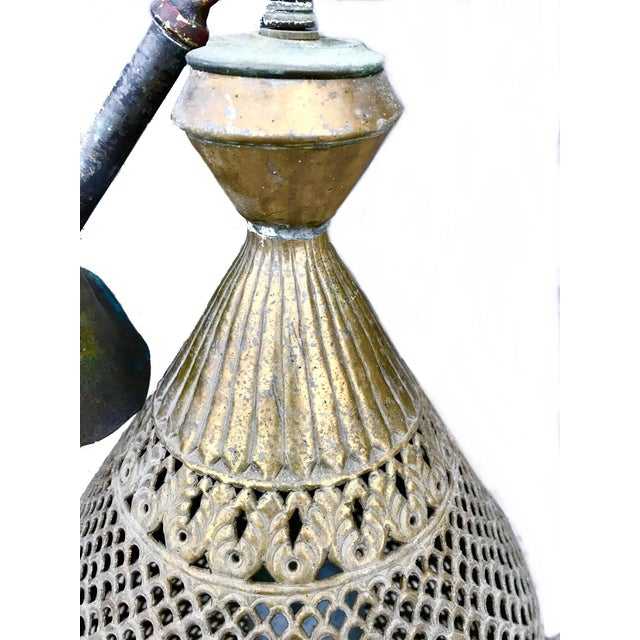 Moroccan 1970s Vintage Pierced Brass Moroccan Pendant Light For Sale - Image 3 of 8