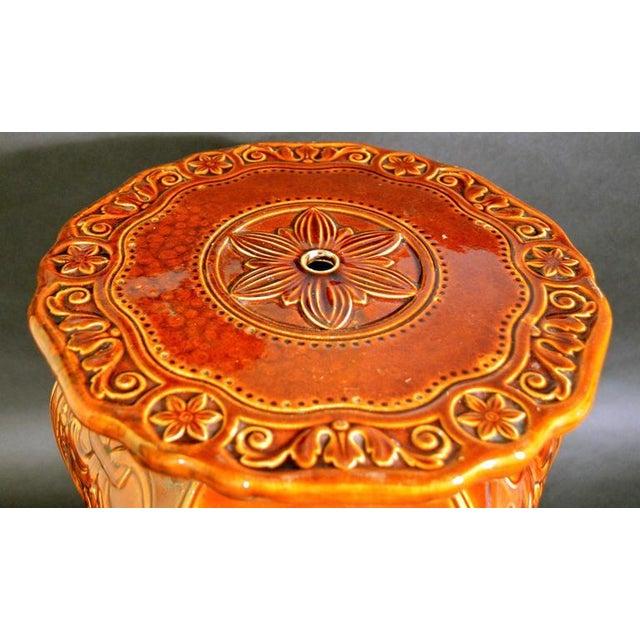 Arts & Crafts Augustus Welby Pugin Minton Arts & Crafts Majolica Garden Seat For Sale - Image 3 of 6
