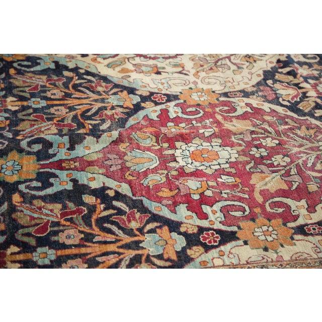 """Textile Antique Lavar Kerman Carpet - 8'6"""" X 11'10"""" For Sale - Image 7 of 10"""