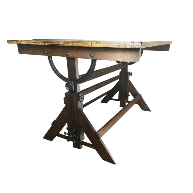 Antique Drafting Table - Image 1 of 5