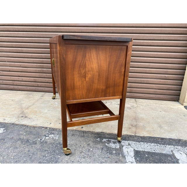 Mid-Century Modern Kipp Stewart for Drexel Declaration Mid Century Modern Serving Cart For Sale - Image 3 of 12