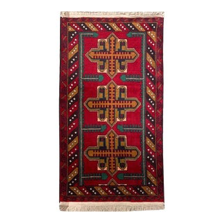 "Tribal Formal Small Baluchi Entry Carpet - 2' 9"" X 4' 9"" For Sale"