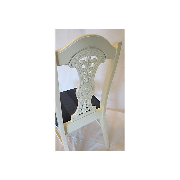 Vintage 1970s Medallion Dining Chairs - Set of 4 - Image 5 of 5