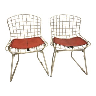 Mid Century Modern Bertoia for Knoll Childrens Chairs- A Pair For Sale